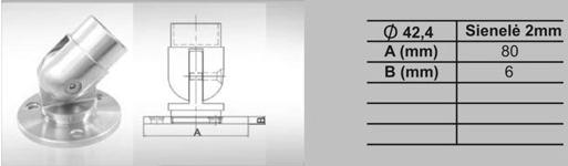 MV-013.2 Sieninis vamzdžio tvirtinimas reguliuojamas