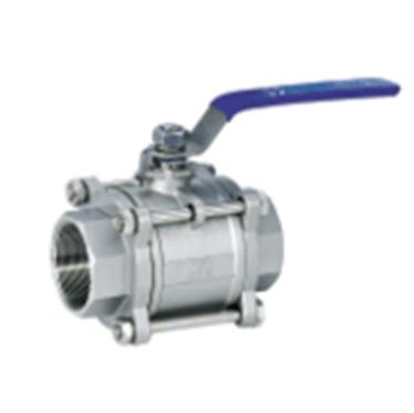 Rutulinis ventilis 3-ių dalių (srieginis) (AISI 304)