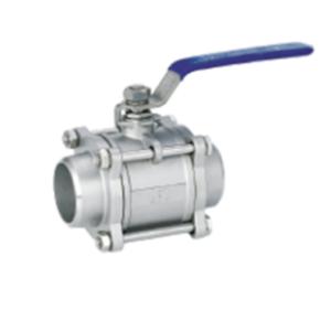 Rutulinis ventilis 3-ių dalių (virinamas) (AISI 304)