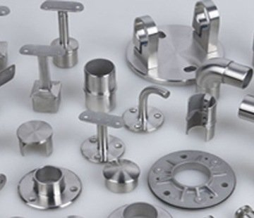 Stainless steel railing systems and fittings