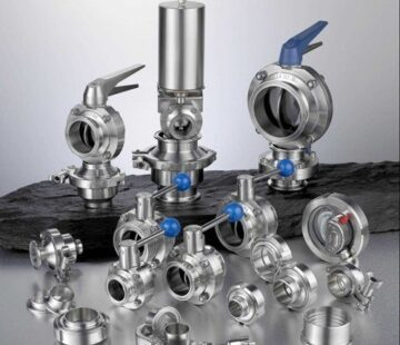 Stainless steel fittings for food and chemical industry