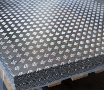 Aliuminio rifliuoti lakštai